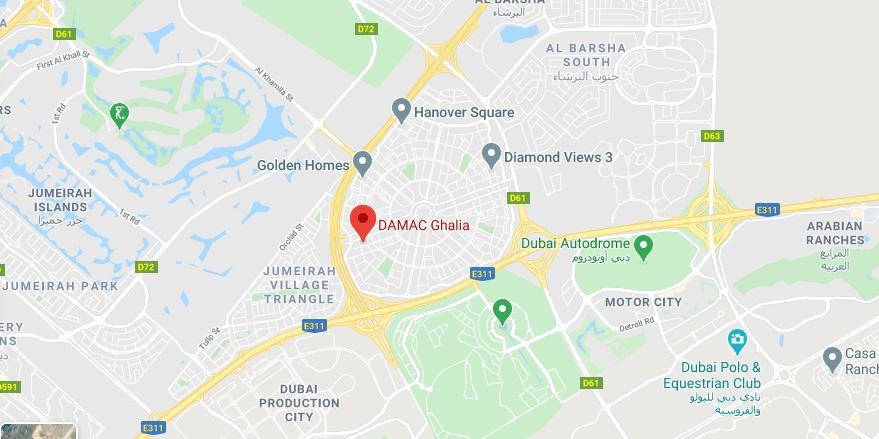 Ghalia Towers Map